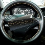 Bmw X3 E83 Black Leather Steering Wheel Cover