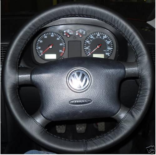 vw bora jetta  genuine leather steering wheel cover